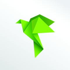 Origami pigeon paper art
