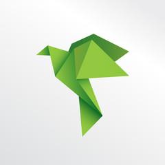 Origami eagle paper art