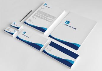 Blue Branded Stationery Layout Set 1