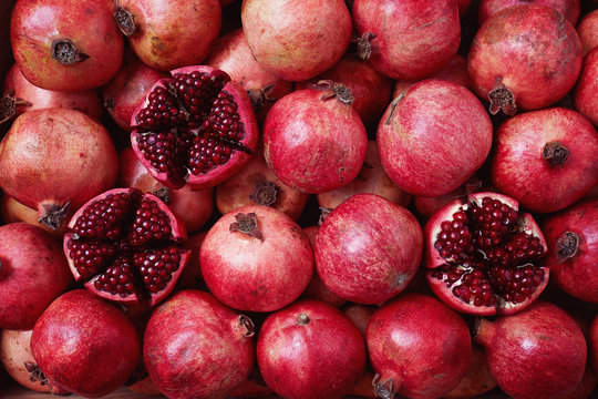 Pomegranates Packed in Shipping Crate