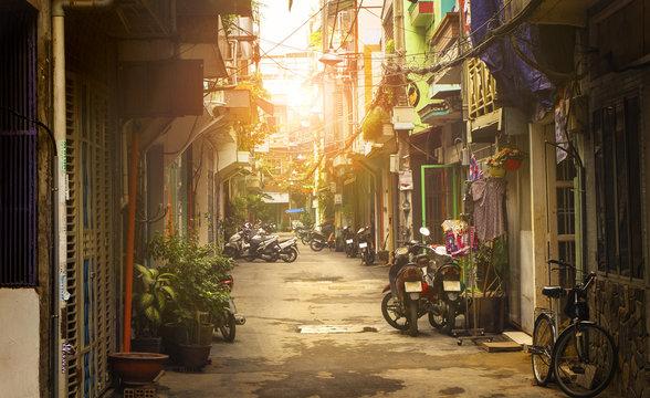 Little street of Ho Chi Minh city, Vietnam