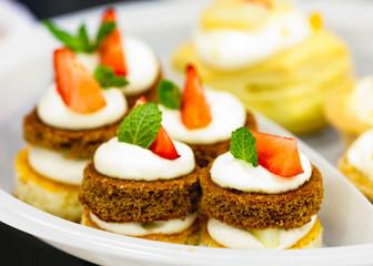 Plate of fruit dessert
