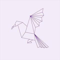 Origami seagull paper art