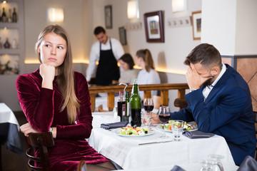 Couple quarreled in restaurant