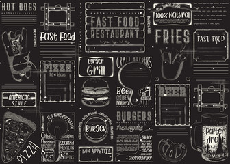 Fast Food Restaurant Placemat