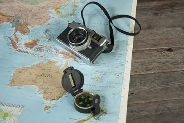 Keuken foto achterwand Oceanië A world map for travelers
