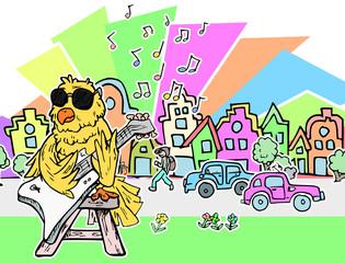 straatartiest vogel in de stad