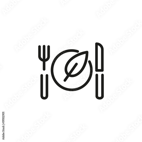Vegan Food Line Icon Stock Image And Royalty Free Vector Files On