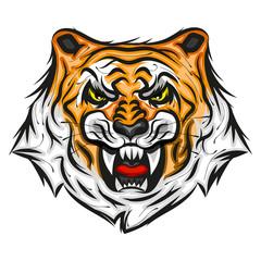 Tiger illustration print