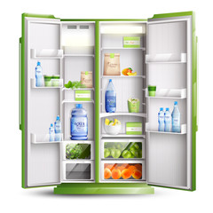 Refrigerator Organization Realistic Object