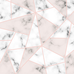 Vector marble texture with pink lines