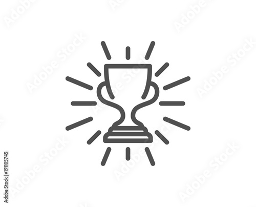Award Cup Line Icon Winner Trophy Symbol Sports Achievement Sign