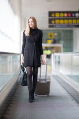 Woman traveling at the airport