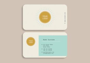 Sunburst Business Card Layout