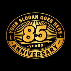 85 years anniversary design template. Vector and illustration. 85th logo.