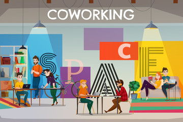 Open Space Coworking Poster