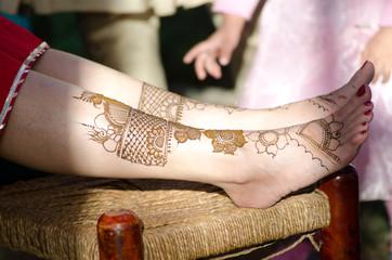 henna design, bride , Hindu wedding, Rajasthan, India