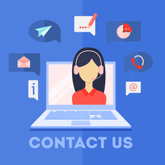 Contact us service.