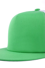 Green cap, baseball cap, Cap isolated white background