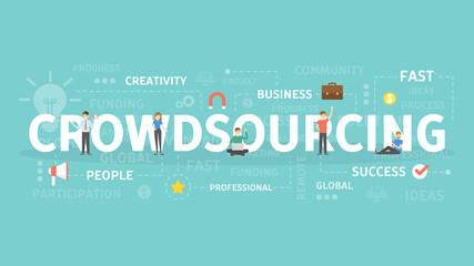 Crowdsourcing concept illustration.