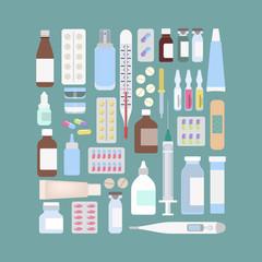 Different medicine set.