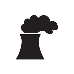 nuclear or coal power plant icon- vector illustration