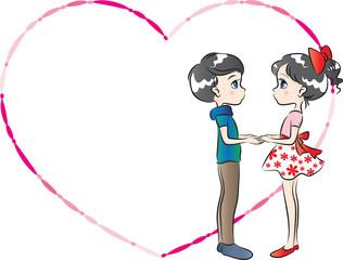 valentines day card border