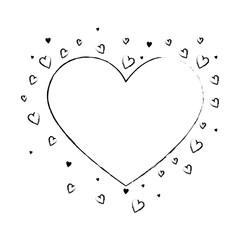 hearts love card icon vector illustration design