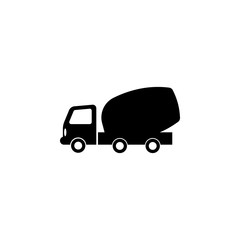 concrete mixer truck icon. Elements of transport icon. Premium quality graphic design icon. Signs and symbols collection icon for websites, web design, mobile app