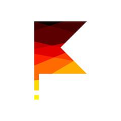 Low poly triangular Germany flag vector polygonal effect