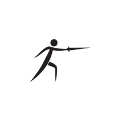 fencing icon. Elements of sportsman icon. Premium quality graphic design icon. Signs and symbols collection icon for websites, web design, mobile app