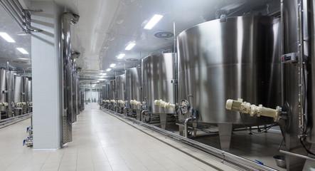 barrels  in winemaker factory