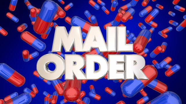 Mail Order Prescription Medicine Pills 3d Illustration