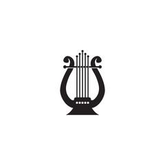 Lyre vector icon