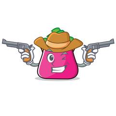 Cowboy purse character cartoon style