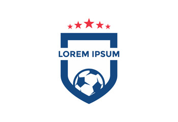 unique soccer logo. football. icon. vector illustration. simple and editable