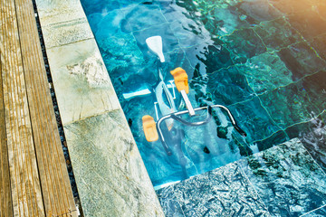aqua bike in a swimmingpool