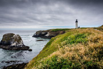 The Oregon Coast's Yaquina Head Lighthouse