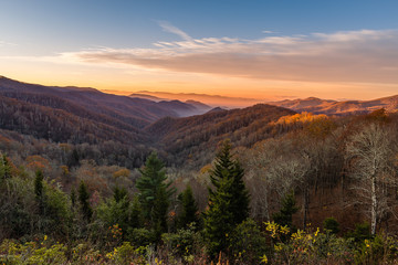 Sunrise in Great Smoky Mountains