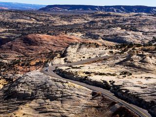 Curving road, Highway 10, Escalante, Utah