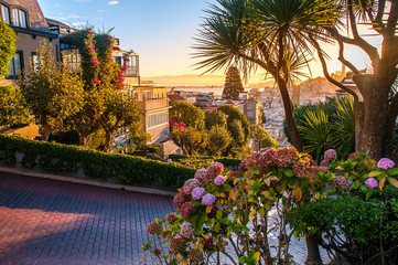 Sunrise from Lombard Street