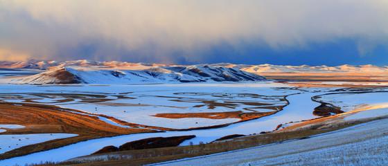 Snow scene in Inner Mongolia, Hulun Buir Grassland