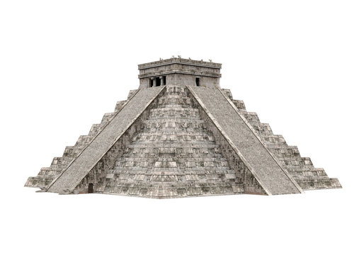 Mayan Pyramid Isolated