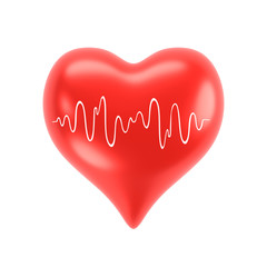 Herz mit Diagramm, rot