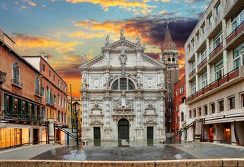 Church San Moise in Venice, Italy