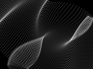 Abstract Wave dotty background.Technology style.