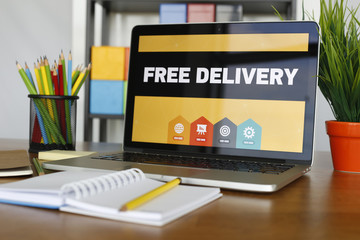 Free Delivery Concept