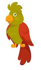 Parrot bird pet cartoon vector flat icon