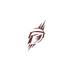 Gladiator spartan logo vector illustration
