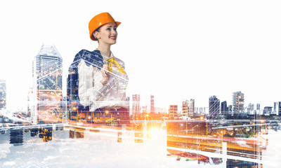 Industrial development project. Mixed media
